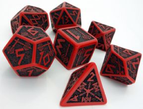 Red & Black Dwarven Dice Set